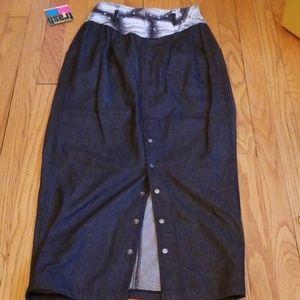 VTG Deadstock NWT Trash Clothing 80s Denim Skirt